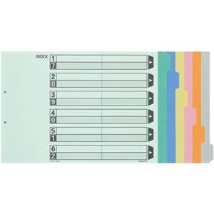 その他 カラー仕切カード A3-E 2穴(6山見出し+扉紙=1組) 10組 【×10セット】 ds-2231984