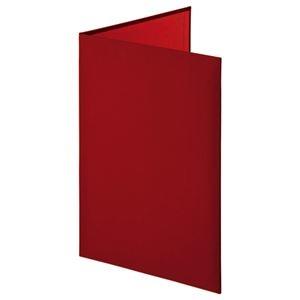 その他 証書ファイル 布クロス 二つ折り 透明コーナー貼り付けタイプ A4 赤 【×10セット】 ds-2232000