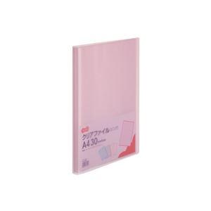 その他 (まとめ) TANOSEE クリアファイル A4タテ30ポケット 背幅17mm ピンク 1セット(10冊) 【×10セット】 ds-2232087