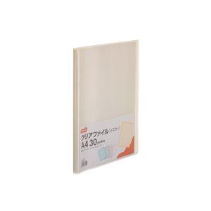 その他 (まとめ) TANOSEE クリアファイル A4タテ30ポケット 背幅17mm イエロー 1セット(10冊) 【×10セット】 ds-2232088