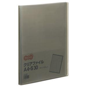 その他 (まとめ) TANOSEE クリアファイル A4タテ30ポケット 背幅17mm グレー 1セット(10冊) 【×10セット】 ds-2232091