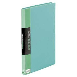 その他 (まとめ) キングジム クリアファイル カラーベースW A4タテ 40ポケット 背幅24mm 緑 132CW 1冊 【×10セット】 ds-2232205