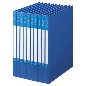 その他 (まとめ) TANOSEE Zファイル(再生PP表紙) A4タテ 100枚収容 背幅17mm ブルー 1セット(10冊) 【×10セット】 ds-2232277