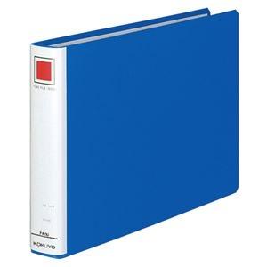 その他 (まとめ) コクヨ チューブファイル(エコ) 片開き A4ヨコ 300枚収容 背幅45mm 青 フ-E635B 1冊 【×10セット】 ds-2232334
