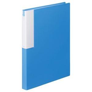その他 (まとめ) TANOSEE クリヤーブック(クリアブック) A4タテ 36ポケット 背幅24mm ブルー 1セット(10冊) 【×10セット】 ds-2232575