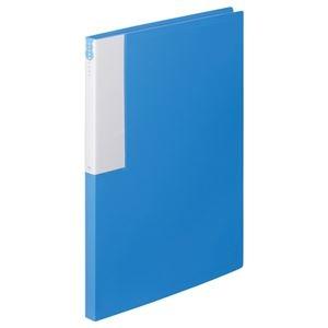 その他 (まとめ) TANOSEE クリヤーブック(クリアブック) A4タテ 24ポケット 背幅17mm ブルー 1セット(10冊) 【×10セット】 ds-2232580