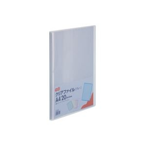 その他 (まとめ) TANOSEE クリアファイル A4タテ20ポケット 背幅14mm ブルー 1セット(10冊) 【×10セット】 ds-2232617