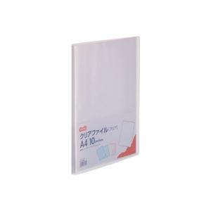 その他 (まとめ) TANOSEE クリアファイル A4タテ10ポケット 背幅8mm クリア 1セット(10冊) 【×10セット】 ds-2232651