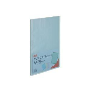 その他 (まとめ) TANOSEE クリアファイル A4タテ10ポケット 背幅8mm グリーン 1セット(10冊) 【×10セット】 ds-2232654