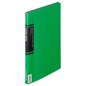 その他 (まとめ) ライオン事務器 クリアーブック A4タテ20ポケット 背幅14mm 緑 カラー台紙付 CR-313 1冊 【×10セット】 ds-2232679