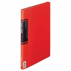 その他 (まとめ) ライオン事務器 クリアーブック A4タテ20ポケット 背幅14mm 赤 カラー台紙付 CR-313 1冊 【×10セット】 ds-2232682