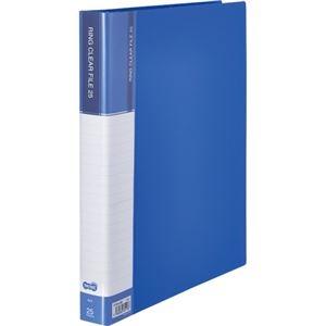 その他 (まとめ) TANOSEEPPクリヤーファイル(差替式) A4タテ 30穴 25ポケット ブルー 1冊 【×10セット】 ds-2232686