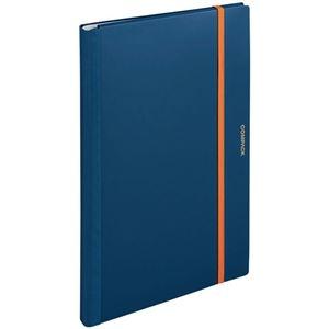 その他 (まとめ) キングジム 二つ折りクリアーファイルコンパック A3 10ポケット ネイビー 5896H 1冊 【×10セット】 ds-2232708
