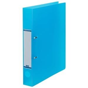 その他 (まとめ) TANOSEEDリングファイル(半透明表紙) A4タテ 2穴 250枚収容 背幅43mm ブルー 1セット(10冊) 【×10セット】 ds-2232780
