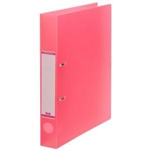 その他 (まとめ) TANOSEEDリングファイル(半透明表紙) A4タテ 2穴 250枚収容 背幅43mm ピンク 1セット(10冊) 【×10セット】 ds-2232781