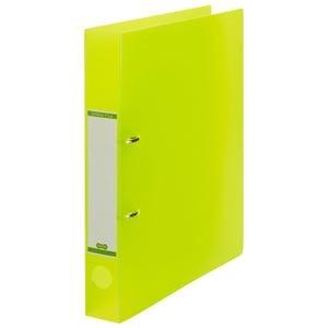 その他 (まとめ) TANOSEEDリングファイル(半透明表紙) A4タテ 2穴 250枚収容 背幅43mm グリーン 1セット(10冊) 【×10セット】 ds-2232782