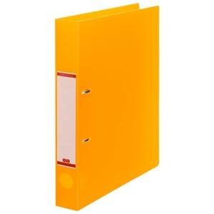 その他 (まとめ) TANOSEEDリングファイル(半透明表紙) A4タテ 2穴 250枚収容 背幅43mm オレンジ 1セット(10冊) 【×10セット】 ds-2232784