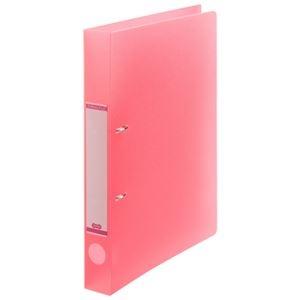 その他 (まとめ) TANOSEEDリングファイル(半透明表紙) A4タテ 2穴 200枚収容 背幅38mm ピンク 1セット(10冊) 【×10セット】 ds-2232797