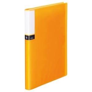 その他 (まとめ) TANOSEE クリアブック(透明表紙) A4タテ 36ポケット 背幅20mm オレンジ 1セット(10冊) 【×10セット】 ds-2232809