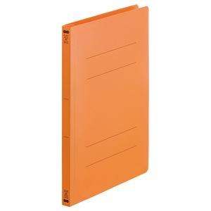 その他 (まとめ) TANOSEEフラットファイル(再生PP) A4タテ 150枚収容 背幅18mm オレンジ1セット(25冊:5冊×5パック) 【×10セット】 ds-2232816