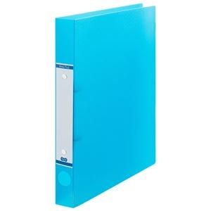 その他 (まとめ) TANOSEEOリングファイル(半透明表紙) A4タテ リング内径25mm ブルー 1セット(10冊) 【×10セット】 ds-2232855