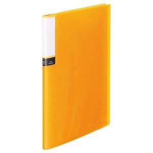 その他 (まとめ) TANOSEE クリアブック(透明表紙) A4タテ 12ポケット 背幅8mm オレンジ 1セット(10冊) 【×10セット】 ds-2232948