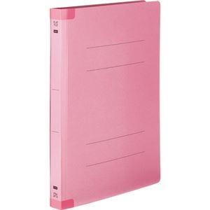 その他 (まとめ) TANOSEEフラットファイル(背補強タイプ) 厚とじ A4タテ 250枚収容 背幅28mm ピンク 1パック(10冊) 【×10セット】 ds-2233164