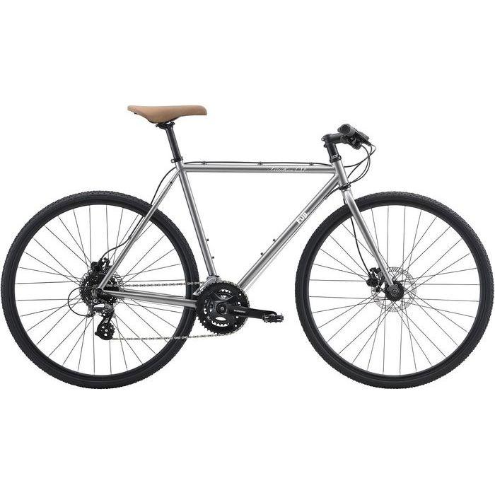 FUJI FEATHER CX FLAT 2x8段変速 クロスバイク(BRIGHT SILVER/58) 20FECFSV58
