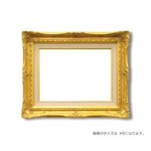 その他 【ルイ式油額】高級油絵額・キャンバス額・豪華油絵額・模様油絵額 ■F8号(455×380mm)ゴールド ds-2213835