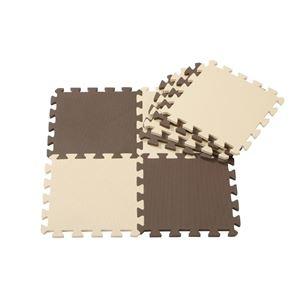 その他 (まとめ) ジョイントマット/フロアマット 【チョコレート 8枚組】 厚み12mm 極厚 洗える 床暖房可 カット可 【×16個セット】 ds-2246796