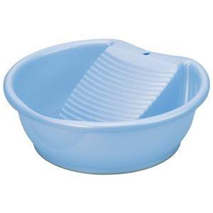 その他 (まとめ) 洗濯桶/洗い桶 【洗濯板機能付き】 パールブルー 部分洗い つけ置き洗い 洗濯用品 ラブウォッシュ 【×30個セット】 ds-2247339