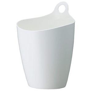 その他 (まとめ) インテリアボックス/インテリア雑貨 【9L ホワイト】 プラスチック製 小物入れ 鉢受け ゴミ箱 ライズ 【×24個セット】 ds-2247344