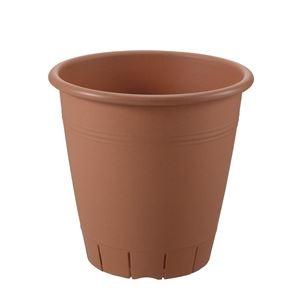 その他 (まとめ) 丸型プランター/植木鉢 【30型 ブラウン】 容量:11L ガーデニング用品 園芸 『ネバール』 【×24個セット】 ds-2247891