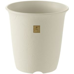 その他 (まとめ) 植木鉢/ハイポット 【10号 ホワイト】 プラスチック製 ガーデニング用品 園芸 『ムール』 【×20個セット】 ds-2247936