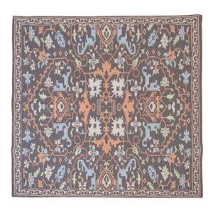 その他 エスニック風 ラグマット/絨毯 【180×180cm TTR-168A】 正方形 インド製 〔リビング ダイニング 応接間 客間〕 ds-2248425