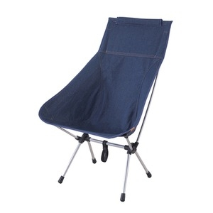 その他 軽量 アウトドアチェア/キャンプ椅子 【5脚セット 幅58cm】 コンパクト収納 専用バッグ付き 工具不要 『クイックハイチェア』 ds-2248436