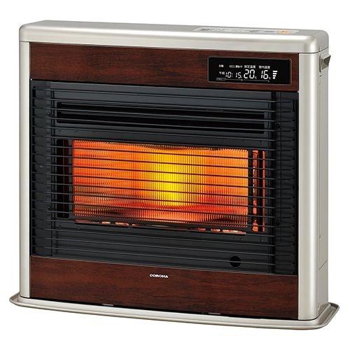 コロナ お部屋がすっきりする薄型スタイル。ワイド赤熱輻射+微温風でしんから温る。【コロナFF式輻射ペースネオ】<別置タンク式(別売)>暖房のめやす:木造18畳/コンクリート28畳 FF-SG6819KMN