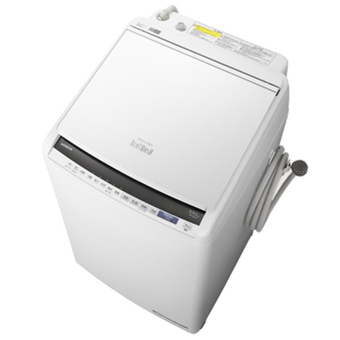 日立 洗濯8.0kg/乾燥4.5kg 『ビートウォッシュ』 タテ型洗濯乾燥機 (ホワイト) BW-DV80E-W