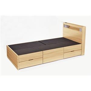 その他 高梨産業 木製ベッド(引出し5個付) ナチュラル SLB-03【代引不可】 ds-2256517