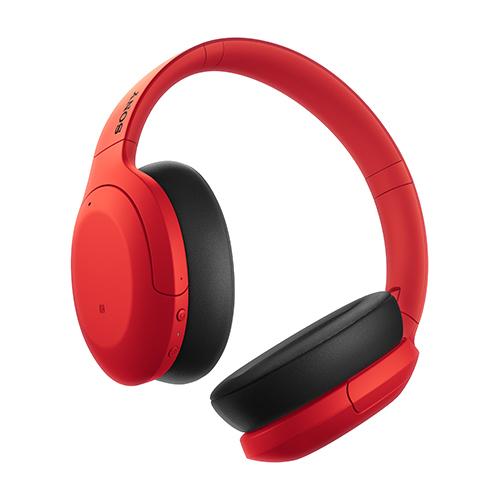 ソニー ハイレゾワイヤレス、Bluetooth対応ヘッドホン レッド WH-H910N-R