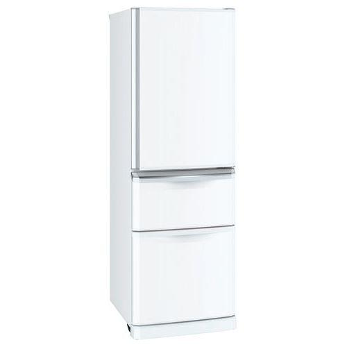 三菱電機 370L 3ドア冷蔵庫 右開きタイプ パールホワイト MR-C37E-W
