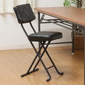 その他 折りたたみ椅子/フォールディングチェア 【ブラック】 コンパクト 『KIRTO キルト』 【4個セット】【代引不可】 ds-2257838