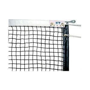 その他 KTネット 全天候式有結節 硬式テニスネット サイドポール挿入式 センターストラップ付き 日本製 【サイズ:12.65×1.07m】 ブラック KT221 ds-2252778