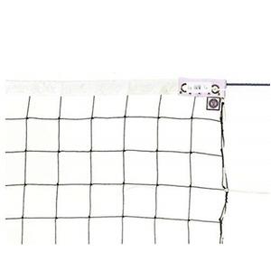 その他 KTネット 周囲ロープ式 6人制バレーネット 日本製 【サイズ:巾100cm×長さ9.5×網目10cm】 KT6107 ds-2252811