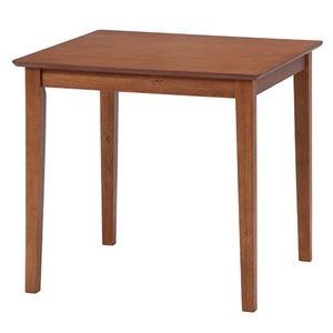 その他 ダイニングテーブル/リビングテーブル 【ブラウン】 75×75cm 正方形 木製 アジャスター付き 『スノア』 ds-2253035