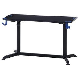 その他 ゲーミングデスク/作業テーブル 【PRO-01 ブルー】 幅120×奥行65cm 高さ調節可 プロ仕様 『GAMING DESK XeNO ゼノ』【代引不可】 ds-2253107