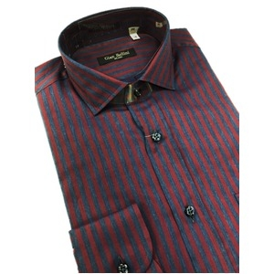 その他 イタリア製ファクトリーシャツ from milano トラッド レジメンタルデザイン Lサイズ ds-2256283