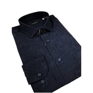 その他 イタリア製ファクトリーシャツ from milano ダークネイビー×フラワー Lサイズ ds-2256290