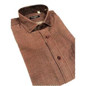 その他 おすすめ イタリア製ファクトリーシャツ from milano エンジ×水玉 Mサイズ ds-2256357