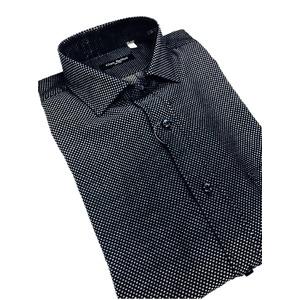 その他 おすすめ イタリア製ファクトリーシャツ from milano ネイビー×水玉 Mサイズ ds-2256359